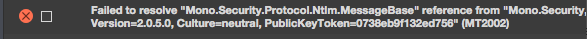 Xamarin.iOS build error on MAC